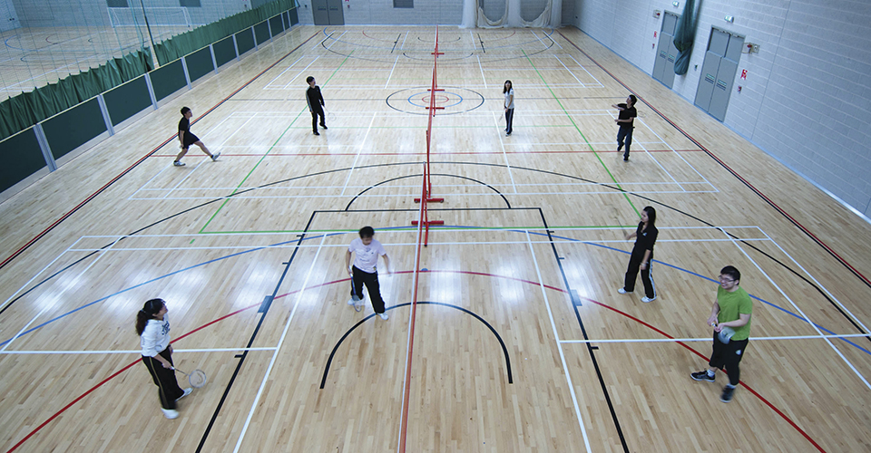 £8.5 million sports centre, with an 80-station fitness suite and 8-court sports hall